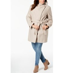 calvin klein plus size belted coat