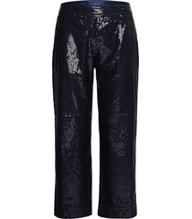 d2. cropped sequin pant casual broek blauw gant