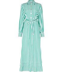 evi grintela lily striped maxi shirt dress - green