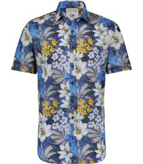 a fish named fred 20.03.083 shirt jungle flowers blue - blauw