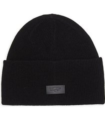 high cuff wool & cashmere beanie
