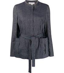 fabiana filippi studded collar jacket - blue