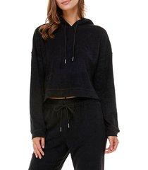 women's wayf '98 luke oversize hoodie, size x-small - black