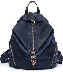 mochilas/ diseño auriculares función mochilas moda-azul