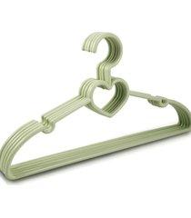 cabide com 5 peã§as - adulto jacki design lifestyle verde - verde - dafiti