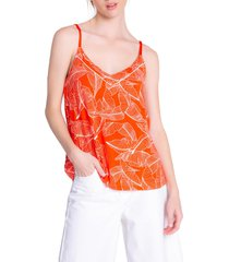 pj salvage leaf dreams camisole, size small in fire at nordstrom
