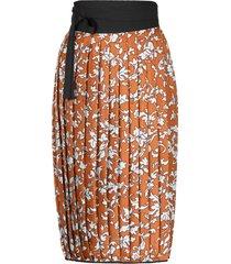 tory burch floral print silk skirt
