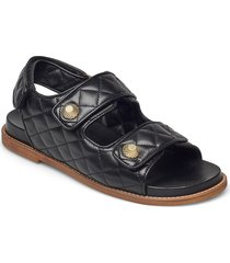 sandals 2757 shoes summer shoes flat sandals svart billi bi