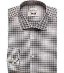 joseph abboud black & gray gingham dress shirt