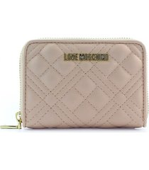 love moschino quilted nude pink small wallet