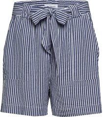 carisa life stripe dnm shorts shorts flowy shorts/casual shorts blå only carmakoma