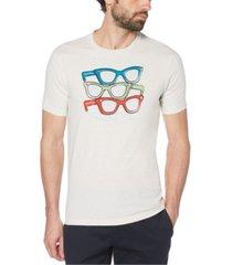 original penguin men's glasses short sleeve t-shirt