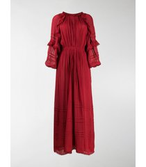 isabel marant étoile embroidered flared maxi dress