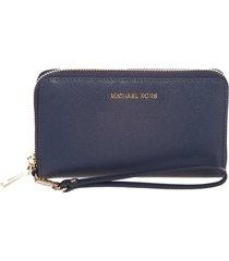 michael michael kors leather wristlet clutch bag for smartphone