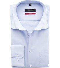 overhemd seidensticker lichtblauw strijkvrij