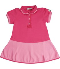 moncler fuchsia and pink short sleeve dress with culotte
