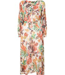 bambah selva floral print kaftan dress - multicolour