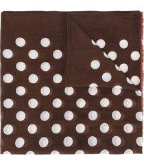 altea polka dot lightweight scarf - brown
