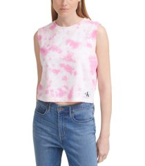 calvin klein jeans galaxy tie-dyed tank top