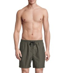 solid and striped men's the classic textured swim shorts - olive seer - size m