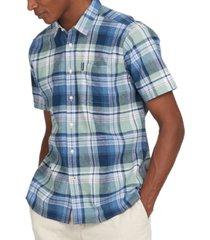 barbour men's textured highland check shirt