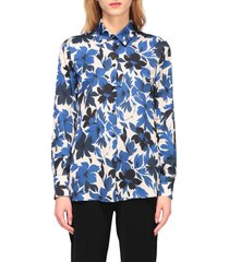 boutique moschino shirt boutique moschino crepe shirt with floral print