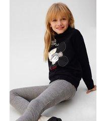 mickey mouse sweatshirt met metalen applicaties