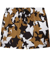 dolce & gabbana star print swim shorts - brown