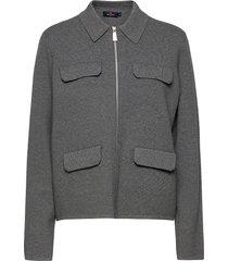lorin knit jacket stickad tröja cardigan grå morris lady