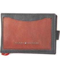 tommy hilfiger men's colorblocked rfid money-clip wallet