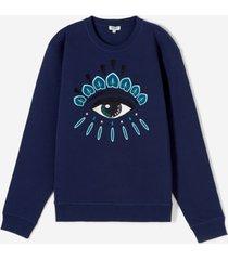 kenzo men's eye logo sweatshirt - ink - l - blue