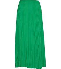 slfalexis mw midi skirt b knälång kjol grön selected femme