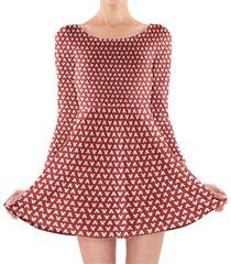 mouse ears polka dots red longsleeve skater dress