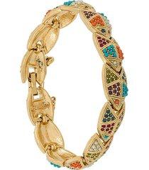 susan caplan vintage d'orlan embellished bracelet - gold