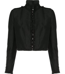 dsquared2 beaded trim bolero jacket - black
