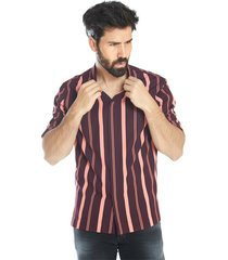 casual shirt with wide stripes
