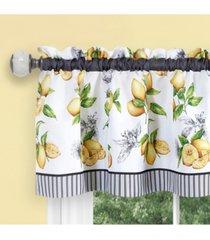 lemon drop tier and valance window curtain set, 58x36
