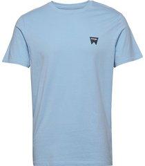 ss sign off tee t-shirts short-sleeved blå wrangler