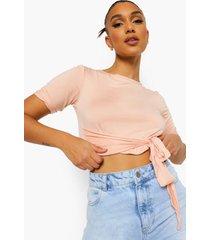 kort t-shirt met strik, pink