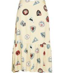 ilka skirt knälång kjol gul wood wood
