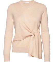 emaleeiw tie pullover gebreide trui roze inwear