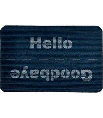 capacho carpet goobaye/hello azul ãšnico love decor - azul - dafiti