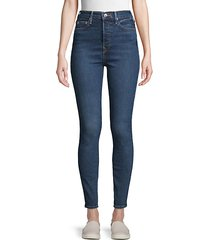 caia button super skinny jeans