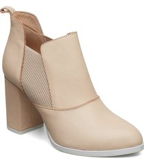 elise l shoes boots ankle boots ankle boots with heel beige shoe the bear