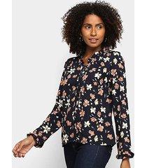 camisa heli floral babados feminina