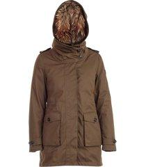 gewatteerde jas double hood