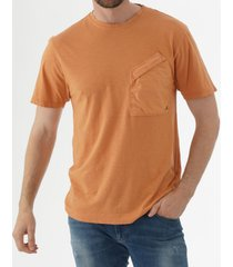 c.p company malfile jersey contrast pocket t-shirt - orange ts223a005433o435