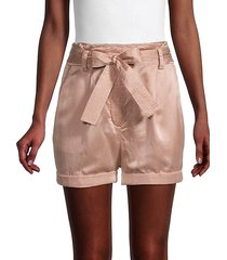 merrick paperbag silk-blend shorts