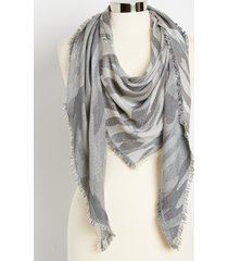 maurices womens camo triangle scarf gray