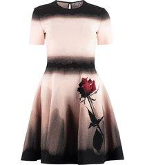alexander mcqueen stretch viscose dress